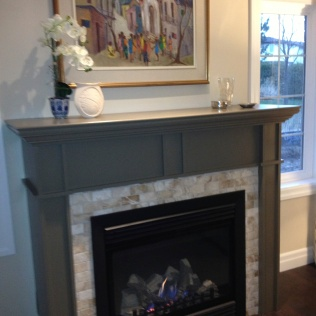 painted mantel